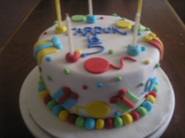 Gift and Party themed Cake (B108)